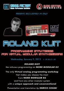 Roland Kuit Modular synthesis Rome